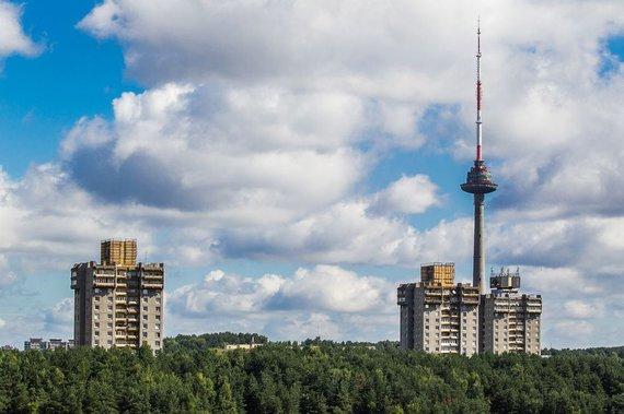 Irmanto Gelūno/15min.lt nuotr./Vilniaus Lazdynų daugiabučio liftas