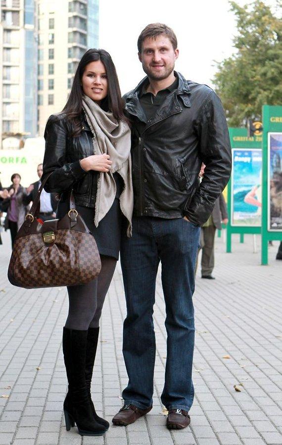 Arvydas Macijauskas su žmona Viktorija