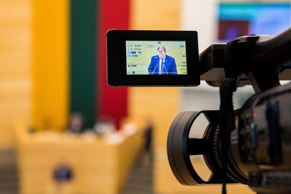 Irmanto Gelūno / 15min nuotr./Saulius Skvernelis pristato pirmąją savo Vyriausybės darbų ataskaitą