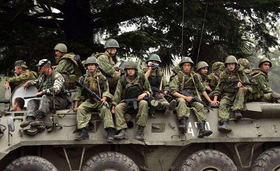 """""""Reuters""""/""""Scanpix"""" nuotr./Rusijos kariai Pietų Osetijoje"""