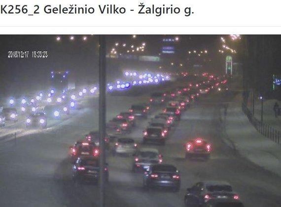 """Atvaizdas iš """"sviesoforai.lt""""/Eismas Vilniuje"""