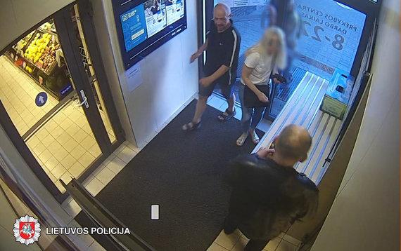 Panevėžio VPK nuotr./Užfiksuotas įtariamasis