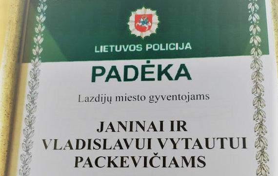 Alytaus VPK nuotr./Padėka J. ir V. Packevičiams