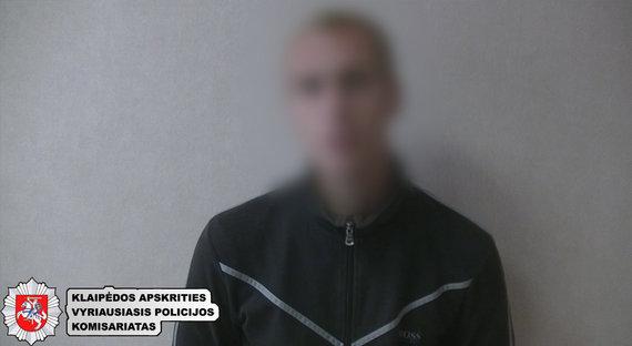 Klaipėdos policijos nuotr./Sulaikytas įtariamasis