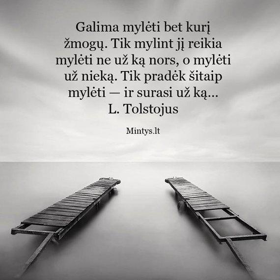"""Atvaizdas iš """"Facebook""""/Levo Tolstojaus citata"""