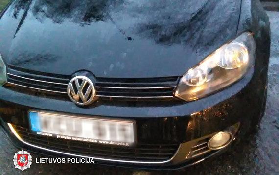 Panevėžio apskrities VPK nuotr./Apgadintas VW automobilis