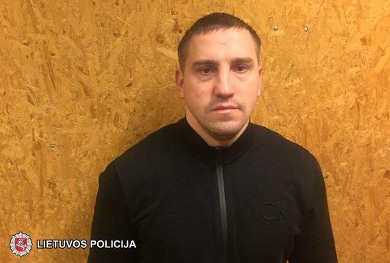 Vilniaus apskrities policijos nuotr./Sulaikytas įtariamasis