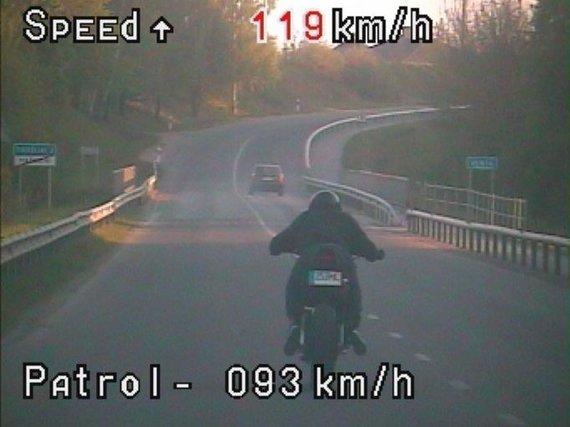 Telšių apskrities policijos nuotr./Užfiksuotas pažeidimas