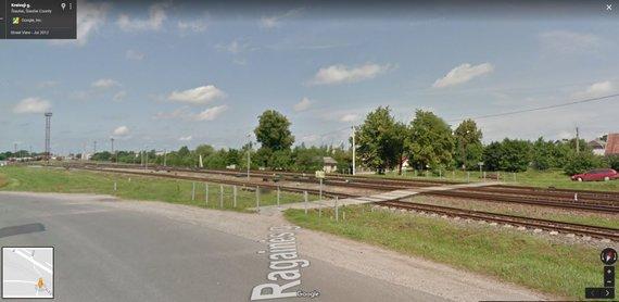 """Atvaizdas iš """"Google Maps""""/Asociatyvi iliustracija: geležinkelis Zokniuose"""