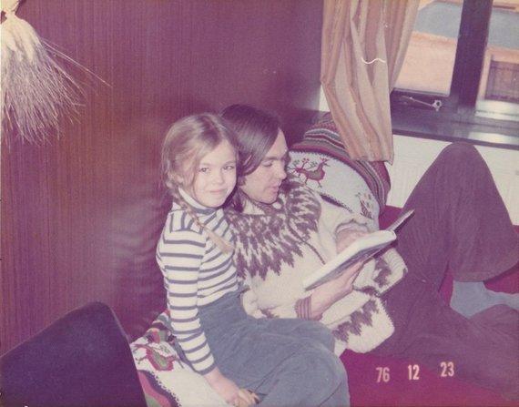 Nuotr. iš šeimos archyvo/ Þorgerður Jörundsdóttir su tėvu