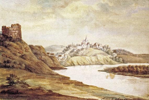Knygos iliustr./Liškiava iš vakarų pusės. Dail. Napoleonas Orda, 1868–1877