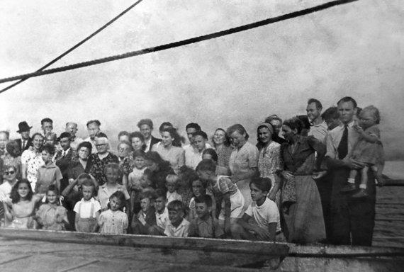 """Laive """"Portugal"""" pakeliui į Kolumbiją. 1948 metai"""