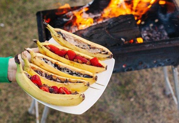 Tinklaraščio archyvo nuotr./Lauže kepti bananai su priedais
