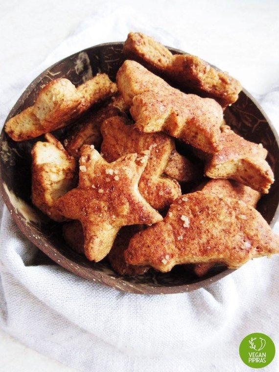 """""""Vegan Pipiras"""" nuotr./""""Sviestiniai"""" sausainiai su cinamonu"""