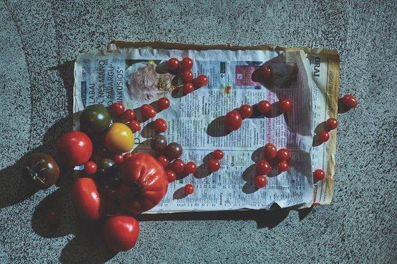 """Roberto Daskevičiaus nuotr./Pomidorai restorane """"Džiaugsmas"""""""
