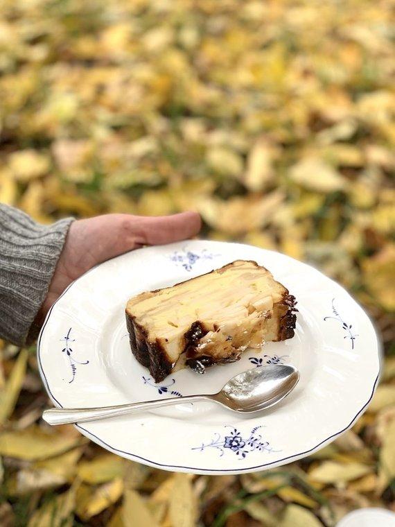 Autorės nuotr. /Nematomas obuolių pyragas