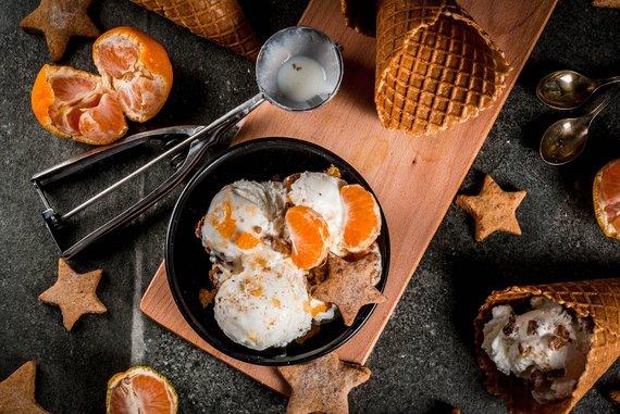 Shutterstock nuotr./Naminiai ledai su mandarinais