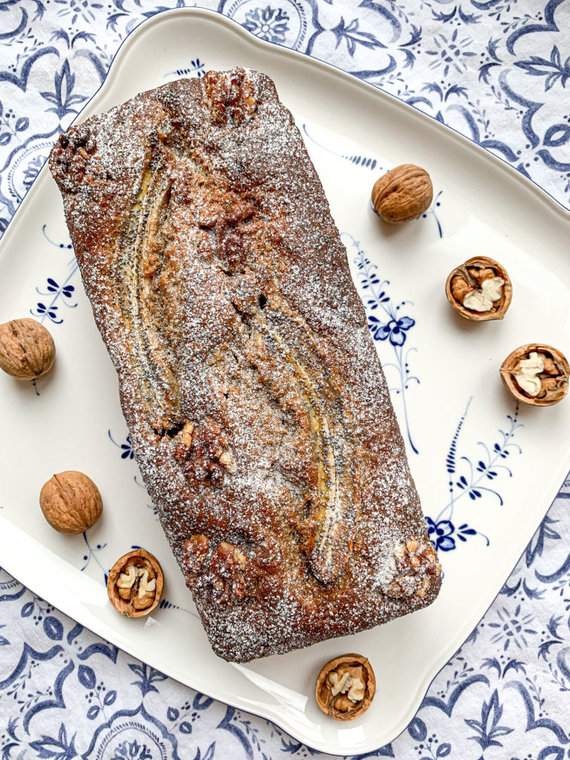 Autorės nuotr. /Kalėdinė bananų duona