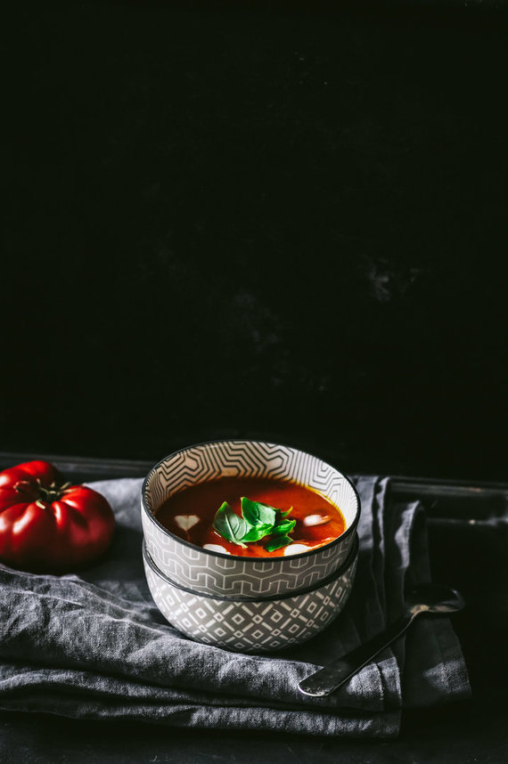 Tinklaraštininkės nuotr./Šviežių pomidorų sriuba su kokosų pienu