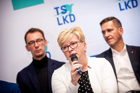 Mindaugo Mikulėno nuotr. /Konservatorių kandidatų Vilniaus miestui pristatymas