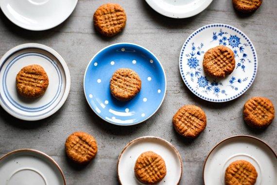 Tinklaraštininkės nuotr. /Sotūs veganiški sausainiai be cukraus