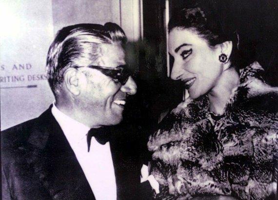 Vida Press nuotr./Maria Callas ir Aristotle'is Onassis