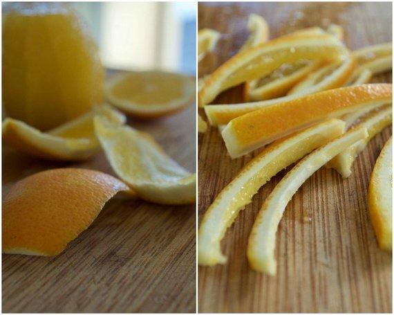 Dangiros Šimašiutės nuotr./Gaminamos cukruotos apelsinų žievelės