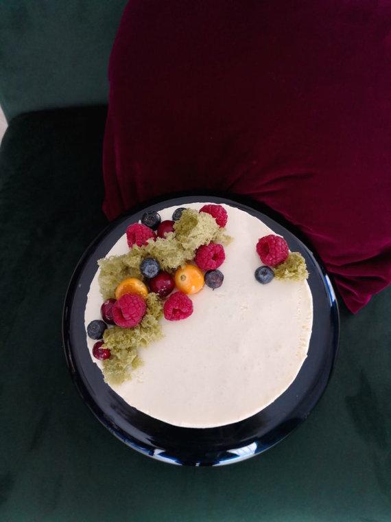 Asmeninio albumo nuotr./Liucinos Rimgailės gamintas tortas