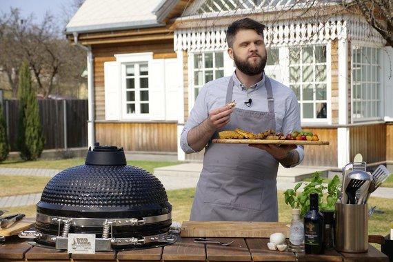 TV3 nuotr./Šefas Gediminas Endriukaitis ir jo gamintas patiekalas