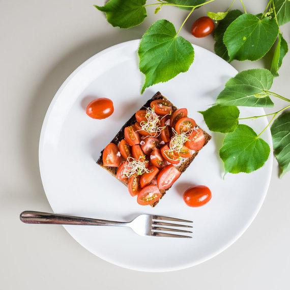 Pomidoras su druska vaikams