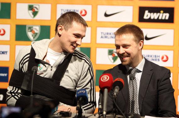 Eriko Ovčarenko / 15min nuotr./Paulius Jankūnas ir Paulius Motiejūnas 2013 m.