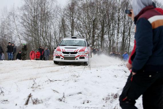 "Eriko Ovčarenko/15min.lt nuotr./""Halls Winter Rally"": 5 GR ""Samsonas Motorsport"""