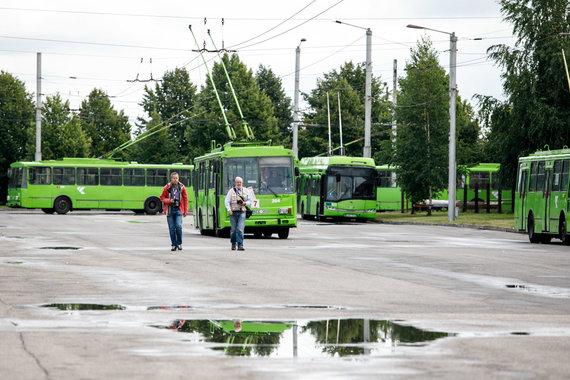 Eriko Ovčarenko / 15min nuotr./Ekskursija troleibusų parke
