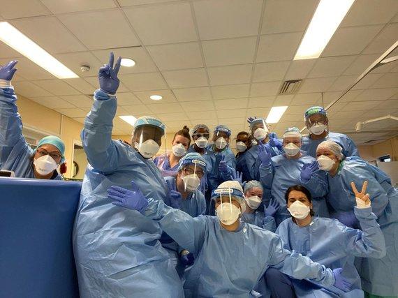 Asmeninė nuotr./J.Grigaitienės teigimu, kolegų palaikymas buvo ypač svarbus dirbant Londono Karalienės ligoninėje