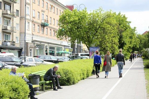 """""""Susisiekimo paslaugos"""" nuotr./Tokie dviračių takai Vilniuje greit liks tik prisiminimas"""