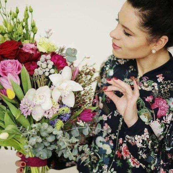 Asmeninė nuotr./Urtė ir jos gėlės