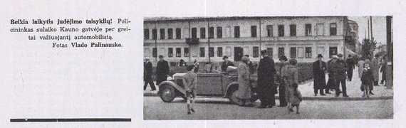 Asmeninio archyvo/Spaudoje – eismo aktualijos (1938 m)
