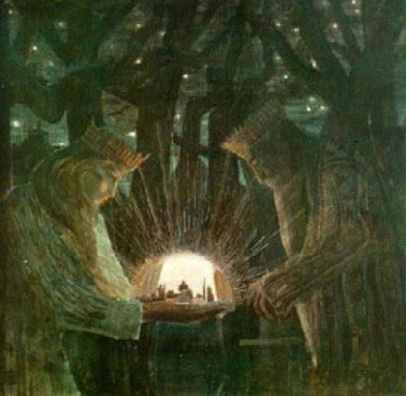 """M.K.Čiurlionio paveikslas """"Karaliai. Pasaka"""""""