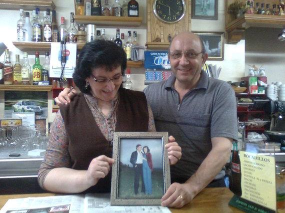 Baro savininkas su žmona