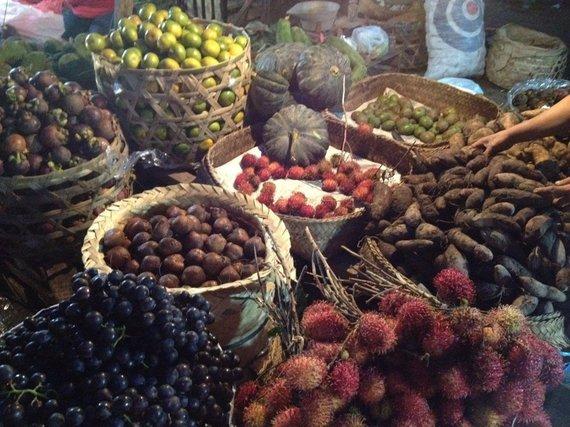 Vaisiai Kambodžos turguje