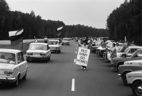 Romualdo Požerskio nuotr./1989 08 23. Baltijos kelias