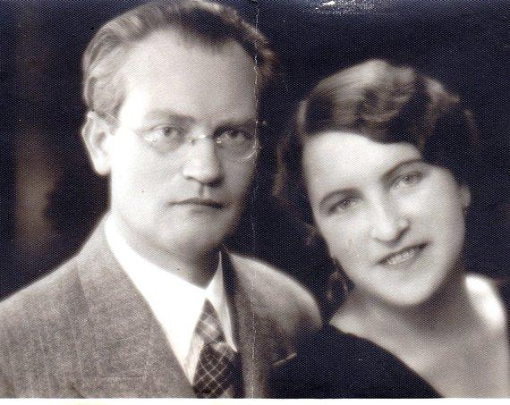 Amzinaitavo.lt archyvo nuotr./Vincas Mykolaitis-Putinas ir Emilija Kvėdaraitė, 1935 metai