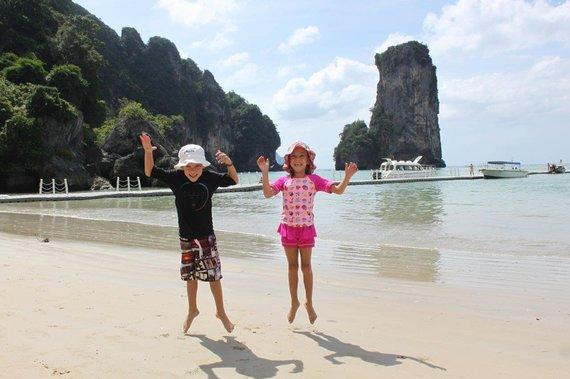 Simonos ir Tomo Kupečių nuotr./Kupečių šeima Krabi saloje Tailande