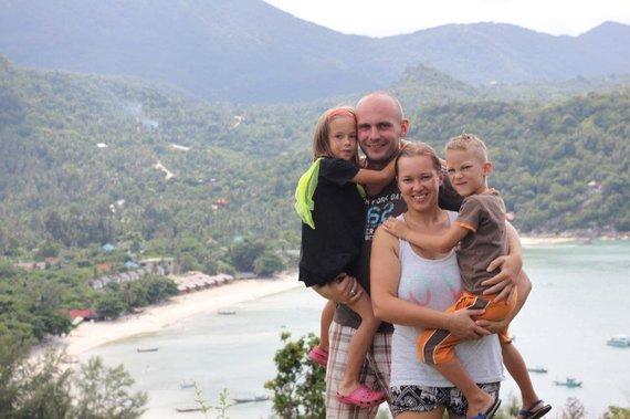 Simonos ir Tomo Kupečių nuotr./Koh Phangan sala pusmetį buvo Kupečių šeimos namai