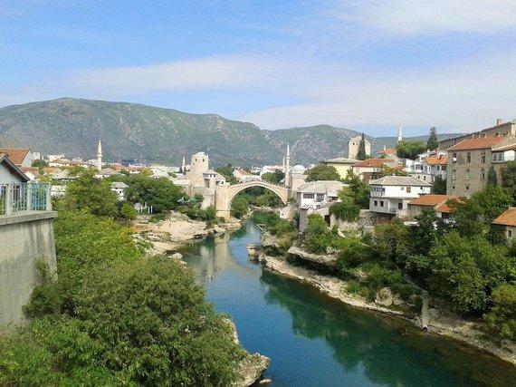Asmeninės nuotr./Mostaro tiltas Bosnijoje ir Hercegovinoje