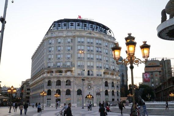 "Kristinos Jugulytės nuotr./""Marriott"" viešbutis Skopjė centre"