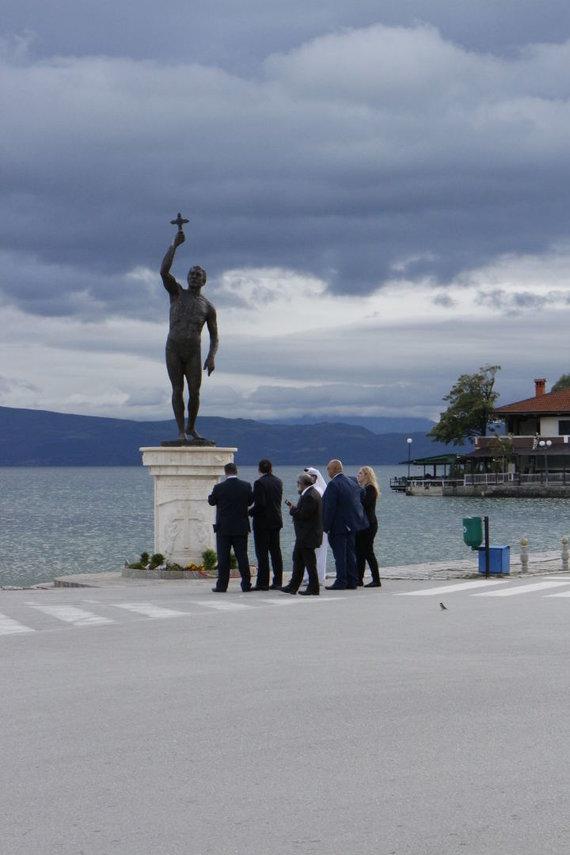 Kristinos Jugulytės nuotr./Ohrido miestas netoli sienos su Albanija