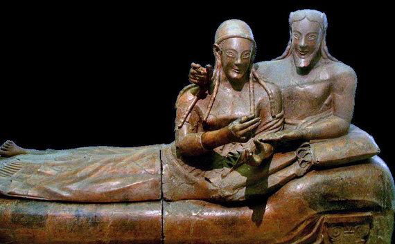 Wikipedia.com/Sutuoktinių sarkofagas, garsinantis Etruscan muziejų