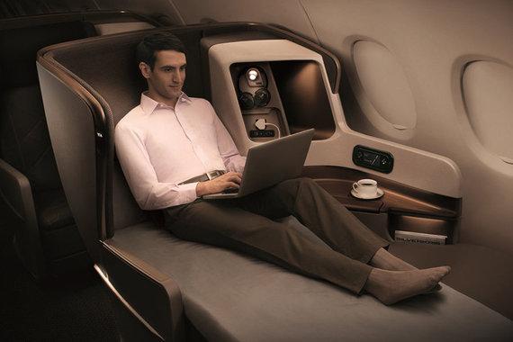 """""""Singapore Airlines"""" verslo klasė"""