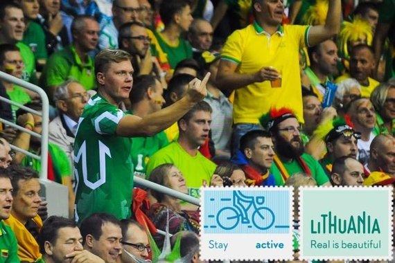 """""""Facebook""""/ Lithuania – Real is beautiful nuotr./""""Krepšinis – jis suteikia džiaugsmą, bet atima sąmonę"""", rašoma prie šios nuotraukos"""